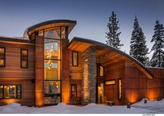 Swaback Partners have designed the Martis Camp House, located near North Lake Tahoe, California.
