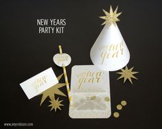 New Years Eve Party Kit   a Silhouette project   Amy Robison Design