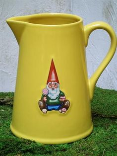 Yellow French Gnome Large 8 Inch Tall Pitcher via Posh Chicago $48/each