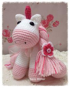 A personal favourite from my Etsy shop https://www.etsy.com/uk/listing/261647574/amigurumi-crochet-unicorn