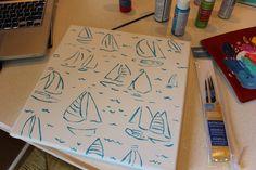 DIY you gotta regatta Crafty Fox, Crafty Craft, Paint Organization, Diy Cooler, Dorm Art, Lilly Pulitzer, Sorority Crafts, Diy Canvas