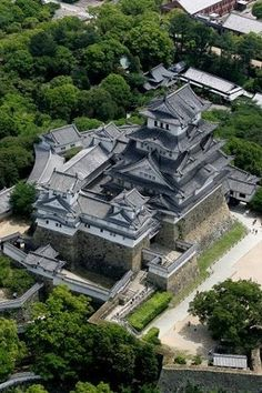 Himeji Castle is a hilltop Japanese castle complex located in Himeji, in Hyōgo Prefecture, Japan. The castle is regarded as the finest surviving example of prototypical Japanese castle architecture