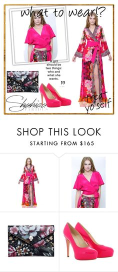 """""""Win a free Shahida Parides dress"""" by zerina913 ❤ liked on Polyvore featuring Alexander McQueen and Brian Atwood"""