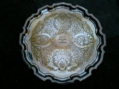 Round 1971 Tray Trophy / Silver Plate / Rally / by EnglishShop, $179.00