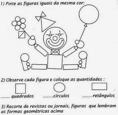 Desenhos de Figuras Geométricas Para Imprimir - Mundinho da Alfabetização