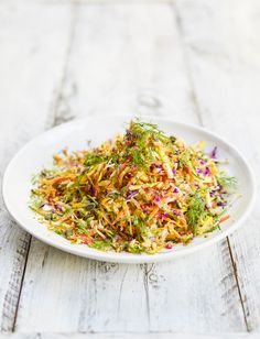 Rainbow Slaw With Yoghurt Dressing