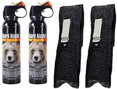Guard Alaska pack of 2 9 oz Bear Spray Repellant Firemaster Canisters  pack of 2 Pepper Enforcement Metal Belt Clip Holsters * For more information, visit image link.(This is an Amazon affiliate link and I receive a commission for the sales)