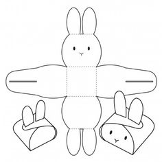 Eid Crafts, Holiday Crafts, Diy And Crafts, Paper Crafts, Bunny Crafts, Easter Crafts For Kids, Handmade Gifts For Friends, Diy Gift Box, Easter Printables