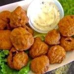 """Fried Mushrooms Recipe """"Button mushrooms are battered and fried in oil for an irresistible snack. These are great for watching sports."""" Fried Mushrooms make a delicious appetizer. I love to eat it with ranch dip, or even tomato ketchup. When there are no..."""