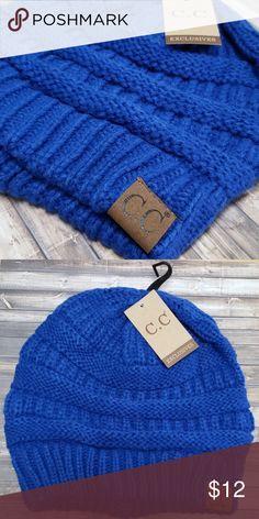 f5bdf81dfff NWT C.C Beanie NWT Royal Blue C.C Beanie Smoke-Free C.C Accessories Hats