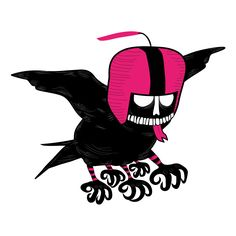Believe it or not, this is a bird - giant skull with some peculiar tastes. He loves hunting urban skateboarders and skaters. It has developed five mutant claws to take them away flying. Crazy bird!!