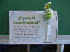 The Love of Jesus is So Sweet - Halloween Craft- possible childrens church craft to give to a friend?