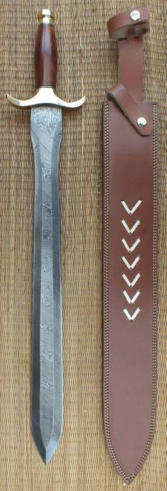 Blades-UK.com The blade on this sword is beautiful. Damascus steel was made from wootz steel, a steel developed in India around 300 BC.