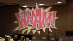 Comic Book theme graphics for this Bar Mitzvah party decor