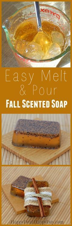 Easy Melt & Pour Fall Scented Soap - I can't believe you can make 12 bars of this in less than an hour! It smells AMAZING!!