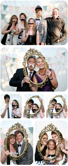 Love this idea for a fun photo booth. Take a picture of the guests as they come in