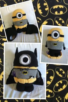 Batman minion amigurumi crochet doll despicable me diy craft