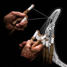 """Landscapes of the mind """"The lacemaker"""", AMAZINGLY BEAUTIFUL! i want to learn to do this."""