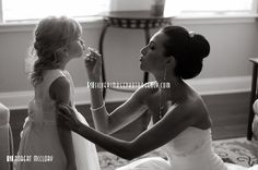 So want to take a picture like this with my niece! She is my darling flower girl and loves makeup!