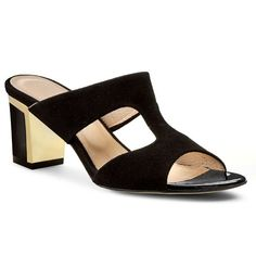 Șlapi SAGAN - 2555 Czarny Welur Złoty Heeled Mules, Fashion Shoes, My Style, Heels, Heel, High Heel, Stiletto Heels, High Heels, Women Shoes Heels