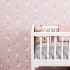 Gorgeous wallpaper to update your little one's nursery - Woodland Fawn Wallpaper by Mimi and Mae at Nubie. http://www.nubie.co.uk/childrens-wallpaper/girls-wallpaper/woodland-fawn-wallpaper-mimi-and-mae