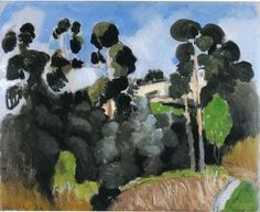Landscape Henri Matisse - by style - Post-Impressionism Henri Matisse, Matisse Kunst, Matisse Art, France Landscape, Landscape Art, Landscape Paintings, Contemporary Landscape, Garden Painting, Painting & Drawing