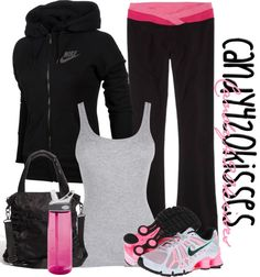 """I work out.. :)"" by candy420kisses ❤ liked on Polyvore"