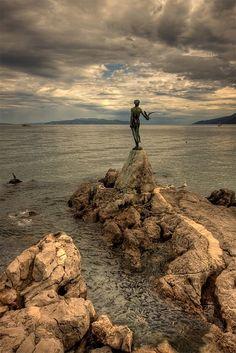 The Maiden of Opatija overlooking the Adriatic, Istria, Croatia