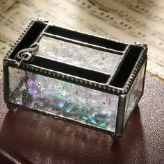 For someone who loves #music, this beautifully crafted glass #box is a gift they will always treasure! Find more glass boxes at UnchartedVisions.com!