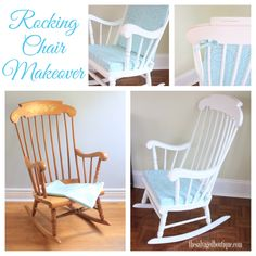Vintage rocking chair makeover for a baby nursery | Annie Sloan Chalk Paint | by The Salvaged Boutique