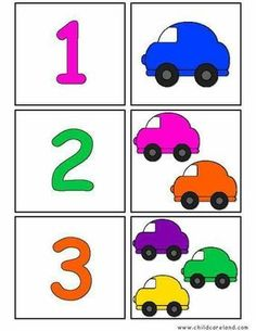 Printable flash card colletion for numbers with dots for preschool / kindergarten kids Preschool Learning Activities, Preschool Kindergarten, Preschool Worksheets, Toddler Activities, Preschool Activities, Kids Learning, Transportation Theme, Math For Kids, Learning Colors