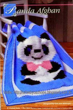 Patron de oso panda para tejer con ganchillo