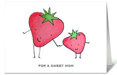 $3.99 Adorable Strawberry Card for Mom by Ashley Lucas.