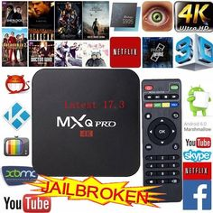 Smart TV Box Android 6.0 4K Quad Core 8GB Wifi HD Media Player