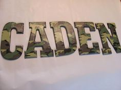 Army Camo Wall Letters reserved for ROMAM by lorisletters on Etsy Military Bedroom, Army Bedroom, Kids Bedroom, Bedroom Ideas, Bedroom Decor, Wall Decor, Camo Rooms, Boy Rooms, Kids Rooms