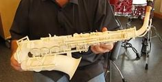 Olaf Diegel 3D Prints a Saxophone After Being Challenged By 3D Systems' CEO Avi Reichental http://3dprint.com/10714/olaf-diegel-3d-print-saxophone/