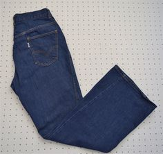 Rare 60s Big E Levi's for Gals Boot Cut Jeans with Snap Button Fly -- Dark Wash  -- High Rise by HandsomePeteShop on Etsy