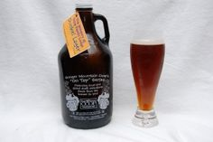 A growler of Dunkel Lager from the Brewery at Trapp Family Lodge