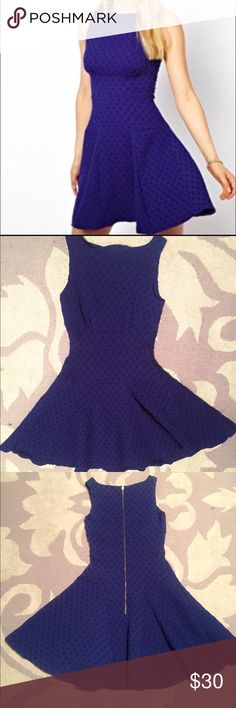 ASOS Closet Fit &Flare Royal blue  dress Royal blue waffle jersey fit and flare dress from ASOS ASOS Dresses Mini