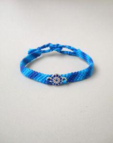 Friendship bracelet Evil eye bracelet Rhinestone charm