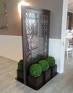 freestanding laser cut metal screens – laser cut screens for architectural and home interiors Living Room Partition Design, Room Partition Designs, Privacy Fence Designs, Privacy Screen Outdoor, Metal Pergola, Pergola Kits, Pergola Ideas, Metal Room Divider, Room Dividers