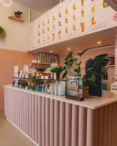Open a bubble tea pop-up store Coffee Shop Interior Design, Cafe Interior Design, Coffee Shop Design, Cafe Design, Store Design, Bakery Design, Tea Bar Menu, Hipster Cafe, Pastell Party