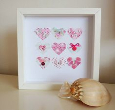 decorated hearts picture by little cherub design | notonthehighstreet.com