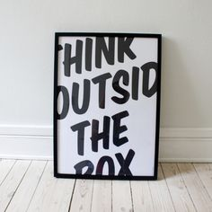 Staying inside the lines is boring! Don't forget to think outside the box. #inspire