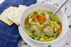Make an amazing an tasty traditional hard matzo ball soup with this blue ribbon winning recipe! Easy directions and tons of photos to guide you. Homemade Fried Chicken, Healthy Baked Chicken, Baked Chicken Breast, Casserole Recipes, Soup Recipes, Cooking Recipes, Shrimp Casserole, Recipies, Hanukkah Food