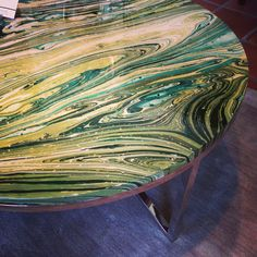 Pick your own color resin tables from Alden Parkes Showroom #hpmkt #fall2013 YES!