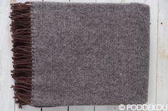 Hnedá deka  z ovčej vlny, kvalitná vlnená deka