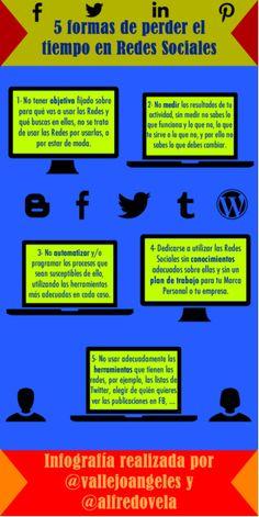 5 formas de perder el tiempo en Redes Sociales by Alfredo Vela Zancada via slideshare