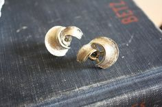 Vintage Gold Swirl Clip On Earrings by madjoy22 on Etsy