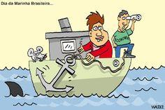waldez cartuns: dia da marinha brasileira